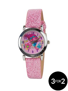 dreamworks-trolls-pink-glitter-strap-girls-watch