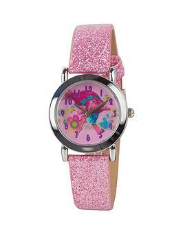 trolls-pink-glitter-strap-girls-watch