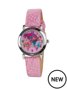 trolls-trolls-pink-glitter-strap-girls-watch