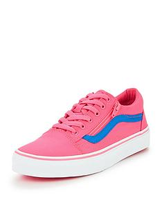 vans-old-skool-zip-neon-canvas-children