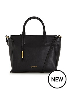 calvin-klein-medium-leather-tote-bag