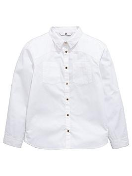 V By Very Girls White Military Shirt