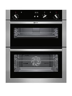 neff-u17s32n5gb-built-under-electric-double-oven-withnbspcircothermreg-stainless-steel