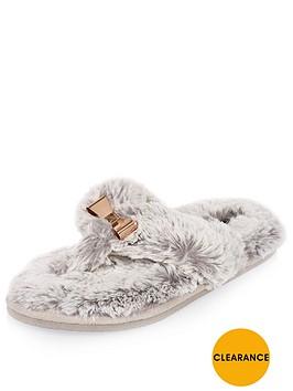 river-island-bow-trim-flip-flop-slippers