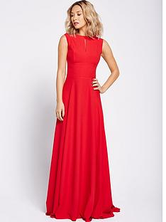 myleene-klass-shoulder-detail-full-maxi-dress-red