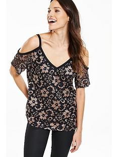 v-by-very-cold-shoulder-metallic-lace-top