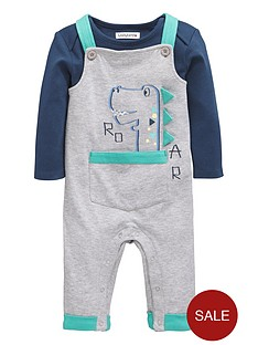 ladybird-baby-boys-bodysuit-and-3d-detail-dinosaur-dungaree-set