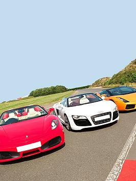 Virgin Experience Days Triple Supercar Blast Plus High Speed Passenger Ride And Photo  Weekday