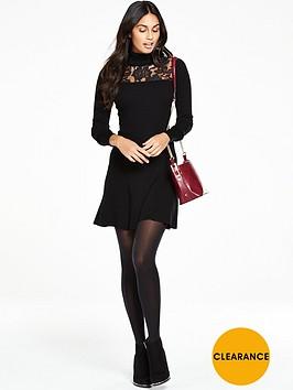 v-by-very-roll-neck-lace-yoke-jumper-dress
