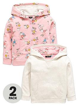 Mini V By Very Girls Floral And Marl Hoodies (2 Pack)