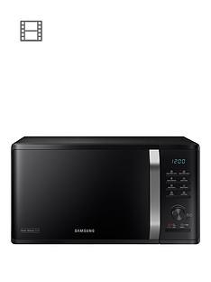 samsung-mg23k3575aknbsp23-litre-microwave-with-heat-wave-grill-blacknbsp