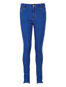 V By Very Girls Mid Wash High Waisted Skinny Jeans