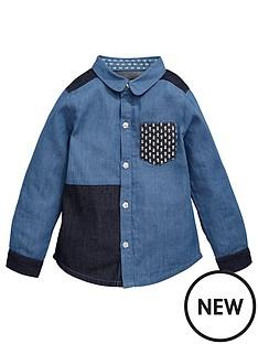 mini-v-by-very-girls-fashion-patchwork-denim-shirt