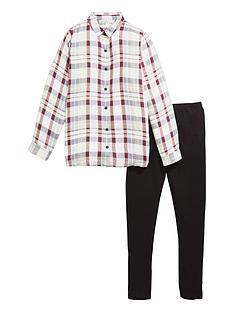 v-by-very-check-shirt-legging-set