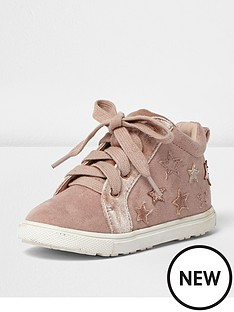 river-island-mini-girls-star-high-top-trainers