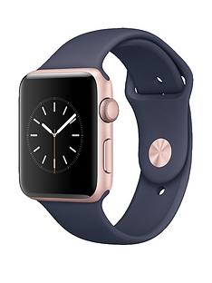 apple-watch-series-1-42mm-rose-gold-aluminium-case-with-midnight-blue-sport-band