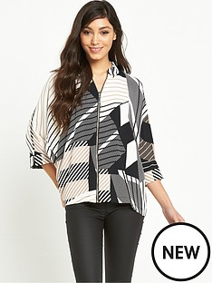 river-island-river-island-zip-front-printed-shirt