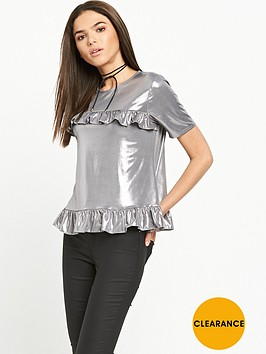 river-island-metallic-ruffle-tee-silver