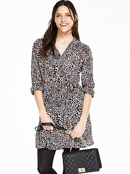 V By Very Animal Print Shirt Dress