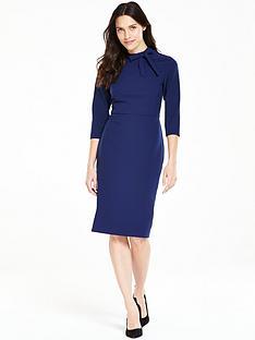v-by-very-bow-detail-pencil-dress