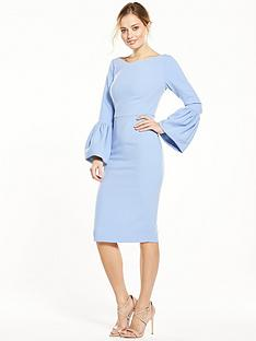 v-by-very-premium-volume-sleeve-bodycon-dress
