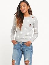 River Island Star Print Knitted Jumper