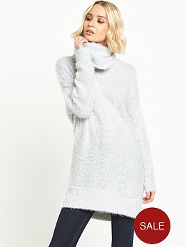 river-island-fluffy-cowl-neck-jumper-light-grey