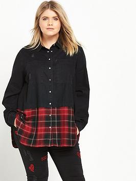 ri-plus-denim-amp-check-shirt