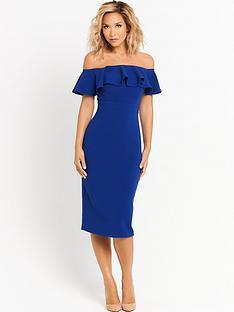 myleene-klass-ruffle-shoulder-pencil-dress