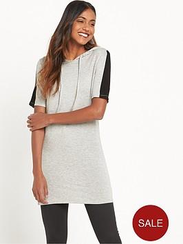 river-island-hoodie-tunic-dress-grey