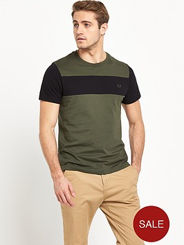 fred-perry-mixed-fabric-ss-t-shirt