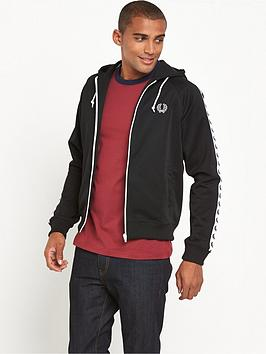 Fred Perry Fred Perry Sports Authentic Taped Hooded Track Jacket |  littlewoods.com