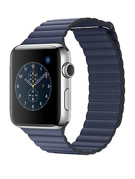 apple-watch-series-2-42mm-stainless-steel-case-with-midnight-blue-leather-loop-medium