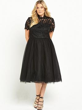chi-chi-london-curve-high-neck-lace-dress-black
