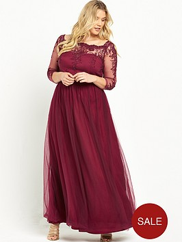 chi-chi-london-curve-embroidered-long-sleeve-maxi-red