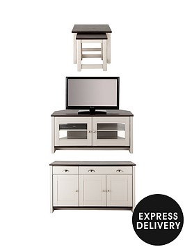 consort-tivoli-corner-tv-3-piece-package-ready-assembled-sideboard-corner-tv-unit-and-nest-of-tables-in-greywalnut-effect-5-day-express-delivery