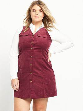 Alice & You Alice &Amp You Button Front Dungaree Dress