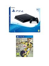 Slim 500Gb Console with FIFA 17 plus Optional Extra Controller and/or 12 Months PlayStation Network