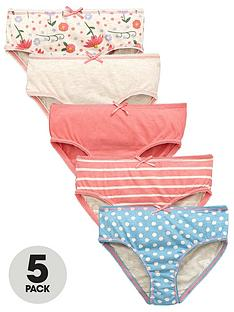 mini-v-by-very-girls-floral-spot-and-stripe-knickers-5-pack