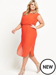 so-fabulous-curve-belted-pleated-dress-orange