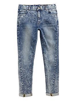 V By Very Boys Skinny Twisted Acid Wash Jean