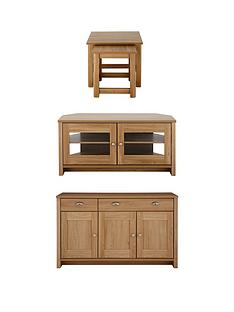 consort-tivoli-3-piece-package-ready-assembled-sideboard-corner-tv-unit-and-nest-of-tables-in-oak-effect-or-creamoak-effect-buy-and-save