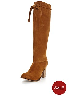 joe-browns-2-in-1-sensational-slouch-suede-boot-tan