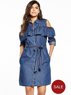 v-by-very-cold-shoulder-frill-shirt-dress