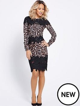 myleene-klass-leopard-and-lace-pencil-dress