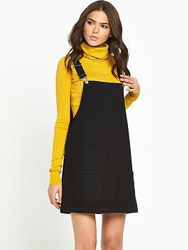 glamorous-dungaree-dress-black