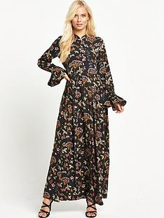 glamorous-floral-high-neck-maxi