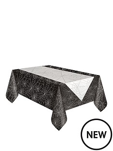halloween-tablecloth-amp-spiderweb-runner