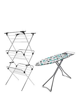 Minky Ironing Board 122X38Cm &Amp Airer Package