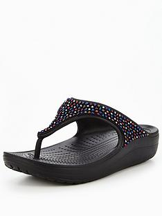 crocs-sloane-embellished-flip